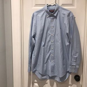 Vineyard Vines blue gingham The Whale shirt SZ med